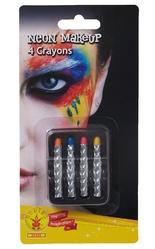 Аксессуары - 4 неоновых карандаша для грима