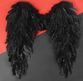 Крылья для костюма - Ангельские черные крылья