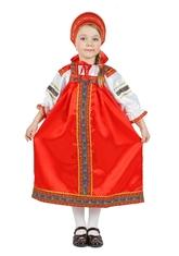 Национальные - Атласный красный костюм Настенька