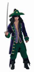 Пираты и капитаны - Бархатный костюм пирата сине-зеленый