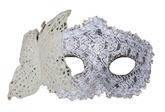 Венецианский карнавал - Белая маска с бабочкой