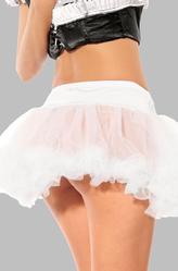 Костюмы на Новый год - Белая полупрозрачная юбка