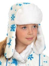 На Новый год - Белая шапка-ушанка