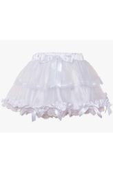 Подъюбники и юбки - Белая юбка с оборками