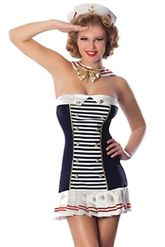 Морячки - Бело-синий костюм морячки