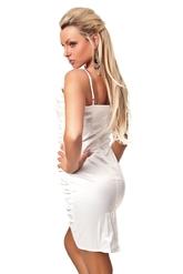 Клубные платья - Белое платье-карандаш со сборками