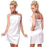 Клубные платья - Белое платье с розочками