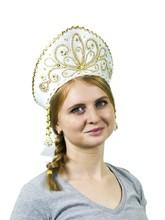 На Новый год - Белый кокошник Девичий