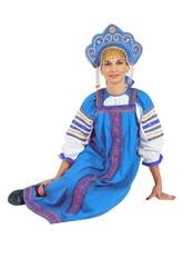 Русские народные костюмы - Бирюзовый сарафан Дуняша