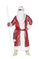 Дед Мороз - Блестящий красный костюм Деда Мороза