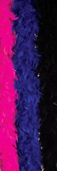 Ретро и Хиппи - Боа синего цвета