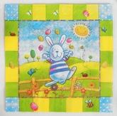 Зайчики и Кролики - Бумажные салфетки Пасхальный заяц 20 шт