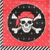 Аксессуары - Бумажные салфетки Пират 20 шт