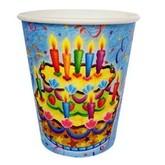 Смешные и Веселые - Бумажные стаканы Праздничный торт