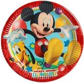 Микки и Минни Маус - Бумажные тарелки Игривый Микки Маус 8 шт