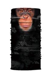 Обезьянки - Черная бандана с обезьяньим принтом
