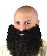 Борода и усы - Черная кудрявая