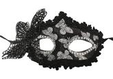 Праздничные костюмы - Черная маска с бабочкой