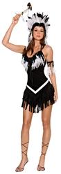 Ковбои и Индейцы - Черно-белый костюм Индианки