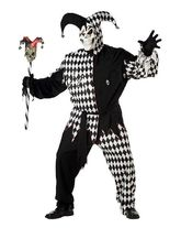 Шуты и скоморохи - Черно-белый костюм злого шута PLUS