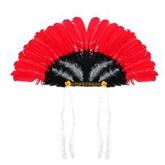 Ковбои и Индейцы - Черно-красный головной убор индейца