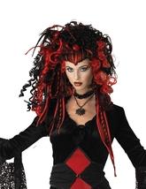 Вампиры и Дракулы - Черно-красный парик вампирши