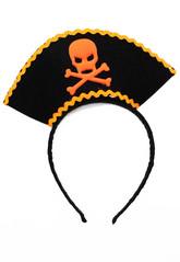 Пиратки - Черно-оранжевый карнавальный ободок Пират