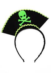 Пиратки - Черно-зеленый карнавальный ободок Пират