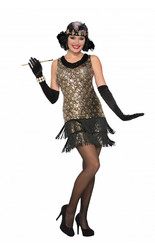 Ретро-костюмы 80-х годов - Черно-золотое платье девушки из 20х