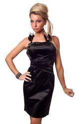Клубные платья - Черное платье-бандо