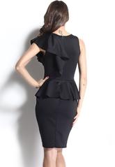 Клубные платья - Черное платье с оборками