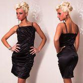 Клубные платья - Черное платье со складками