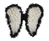 Крылья для костюма - Черные ангельские