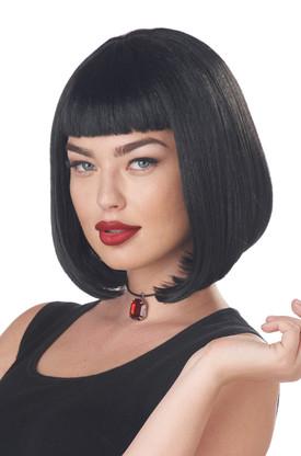 Черный боб парик