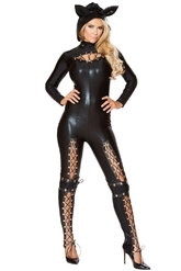 Кошки - Черный комбинезон Женщины Кошки