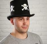 Пираты и капитаны - Черный цилиндр с черепами