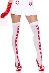Медсестры - Чулки карнавальные Крестик
