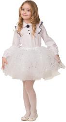 Снежинки - Детская белая юбка со звездочками
