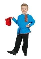 Русские народные - Детская бирюзовая косоворотка