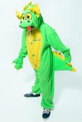 Кигуруми - Детская пижама-кигуруми Зеленый Дракон