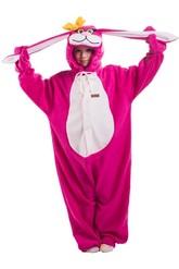 Кигуруми - Детская пижама Розовый заяц