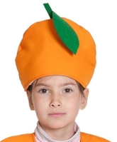 Фрукты и ягоды - Детская шапка Апельсин