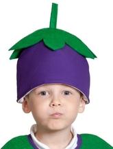 Фрукты и ягоды - Детская шапка Баклажан