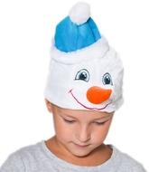 На Новый год - Детская шапка Снеговика