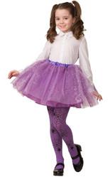Мультфильмы и сказки - Детская сиреневая юбка с золотистым узором