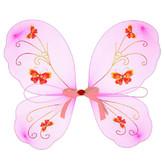 Пчелки и бабочки - Детские крылья с розовой лентой