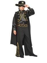 Зорро - Детский атласный костюм Зорро