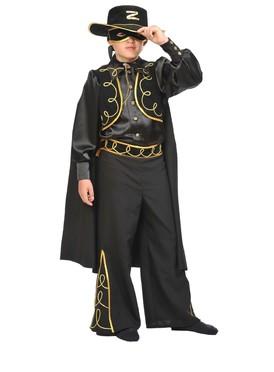 Детский атласный костюм Зорро