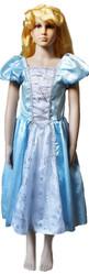 Снежинки - Детский голубой костюм принцессы