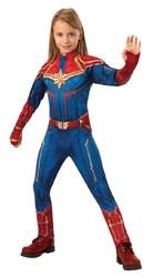 Супергерои и спасатели - Детский классический костюм Капитана Марвел